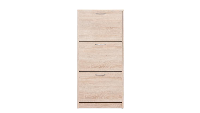 schuhschrank mainz 1 schuhkipper eiche sonoma mit 3 klappen. Black Bedroom Furniture Sets. Home Design Ideas