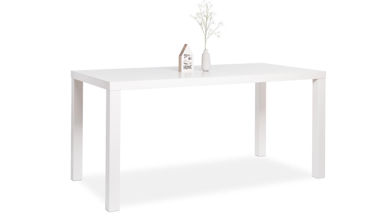 esstisch primo tisch in wei hochglanz lackiert 140x80 cm. Black Bedroom Furniture Sets. Home Design Ideas