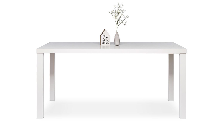 esstisch prino mdf in wei hochglanz lackiert 140x80 cm. Black Bedroom Furniture Sets. Home Design Ideas