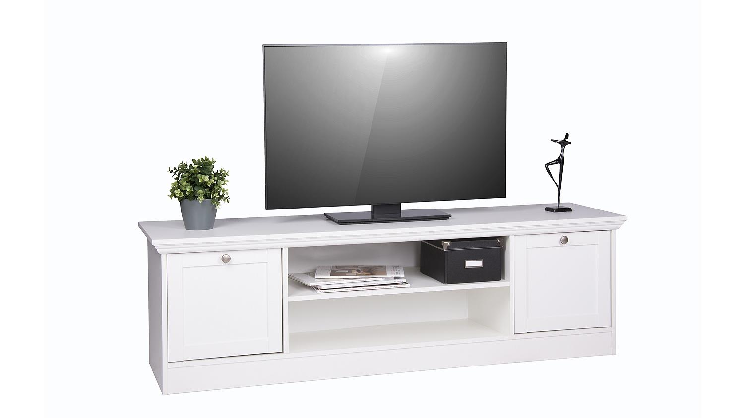 tv board landwood 17 lowboard in wei landhaus. Black Bedroom Furniture Sets. Home Design Ideas