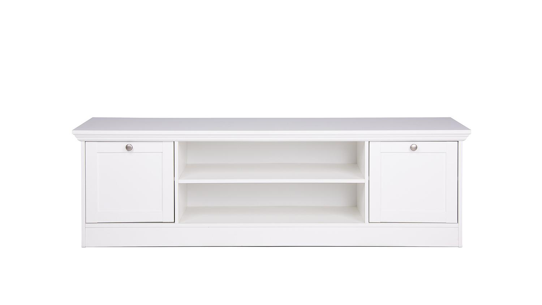 Tv Board Landwood Lowboard Hifi In Weiß Mit 2 Fächern Landhausstil