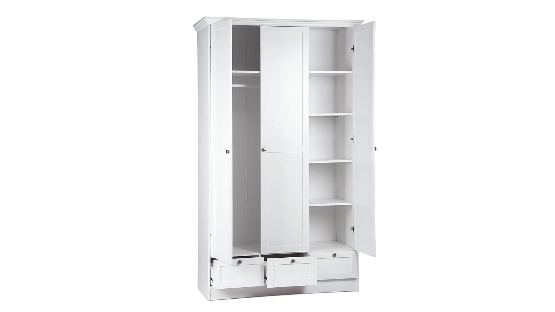 kleiderschrank landwood 18 in wei landhaus 120 cm. Black Bedroom Furniture Sets. Home Design Ideas