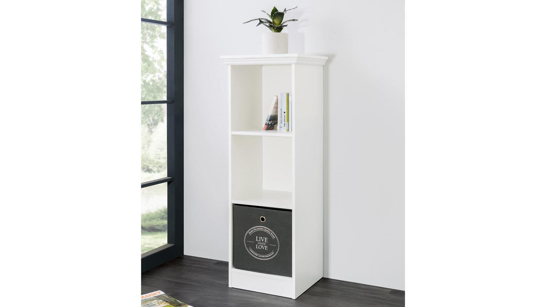 Bücherregal Landhausstil landwood bücherregal in weiß mit 3 fächern 42 cm landhausstil