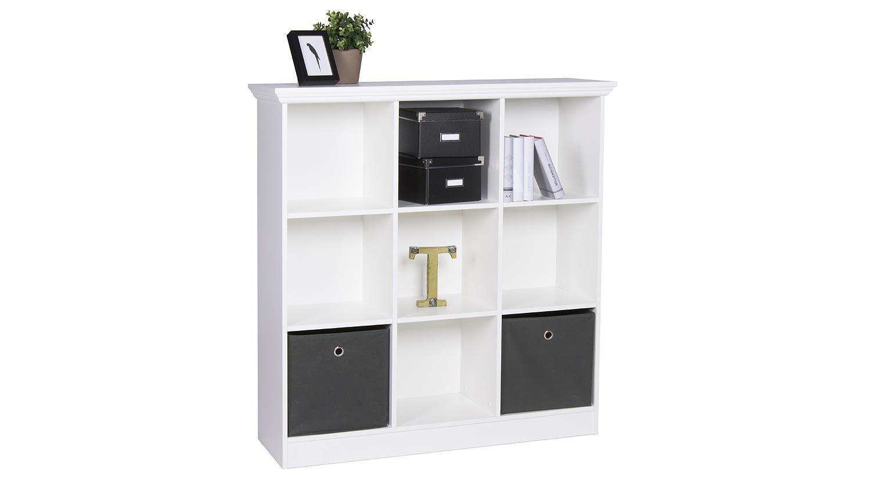 regal landwood 24 in wei landhaus mit 9 f chern. Black Bedroom Furniture Sets. Home Design Ideas
