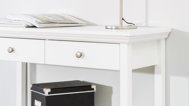 konsole landwood telefontisch in wei mit 2 schubk sten. Black Bedroom Furniture Sets. Home Design Ideas