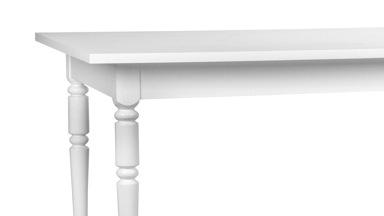 Esstisch landwood tisch in wei ausziehbar 160 200x90 cm for Esstisch tisch