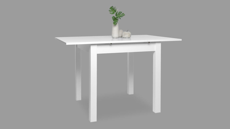 Esstisch Coburg Tisch Kuchentisch In Weiss Ausziehbar 80 120x80 Cm