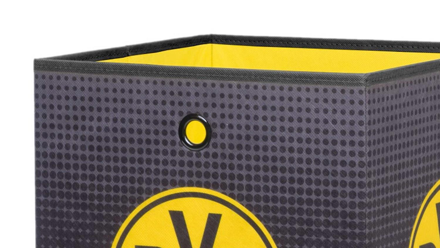 bvb 09 aufbewahrungsbox faltbox borussia dortmund. Black Bedroom Furniture Sets. Home Design Ideas
