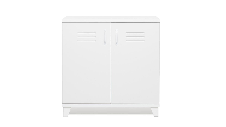 kommode factory 2 wei er spind schrank 2 t rig 80x80 cm. Black Bedroom Furniture Sets. Home Design Ideas