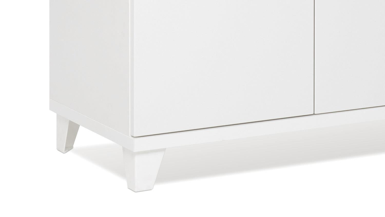 kommode factory 3 spind sideboard 2 t rig wei 80x80 cm. Black Bedroom Furniture Sets. Home Design Ideas