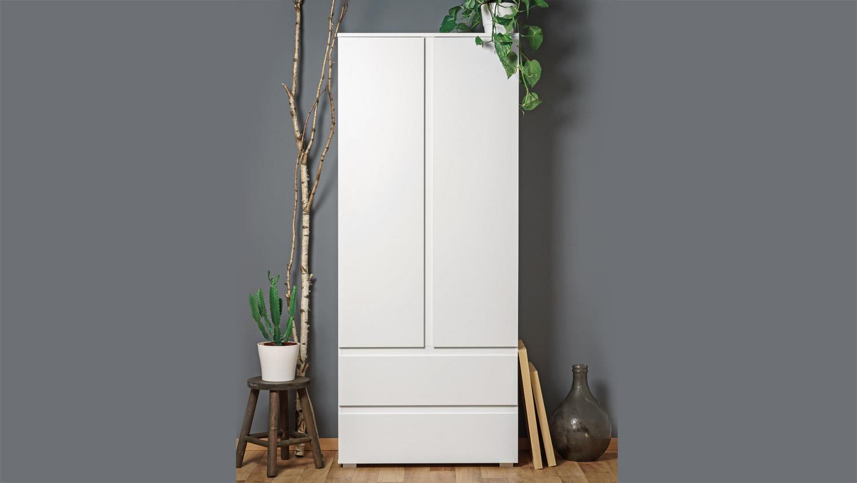 mehrzweckschrank blanc 7 griffloser schrank in wei 2 t rig 80x191 cm. Black Bedroom Furniture Sets. Home Design Ideas