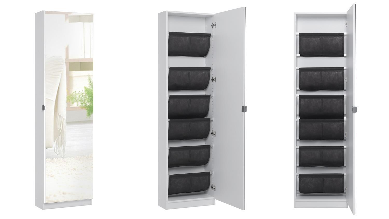 schuhschrank zuma schuhregal schuhkipper schrank wei spiegel 12 paar. Black Bedroom Furniture Sets. Home Design Ideas