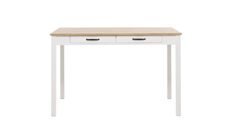 esstisch gotland tisch wei und eiche mit schubk sten 120x80. Black Bedroom Furniture Sets. Home Design Ideas