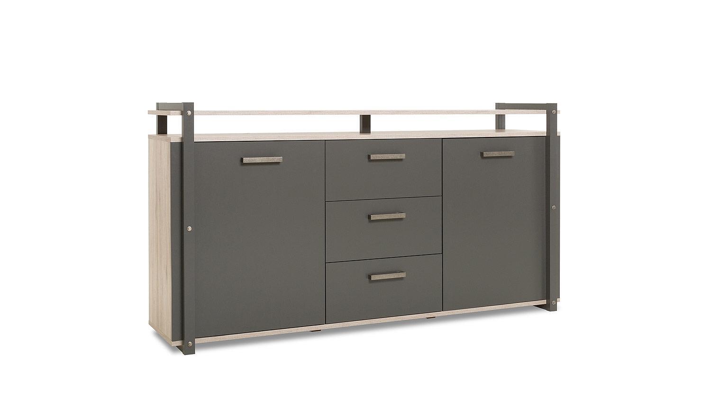 sideboard brooklyn kommode anrichte eiche anthrazit industrie optik. Black Bedroom Furniture Sets. Home Design Ideas
