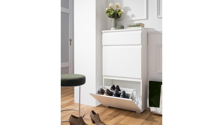 schuhkipper blanc 44 schuhschrank garderobenschrank in. Black Bedroom Furniture Sets. Home Design Ideas