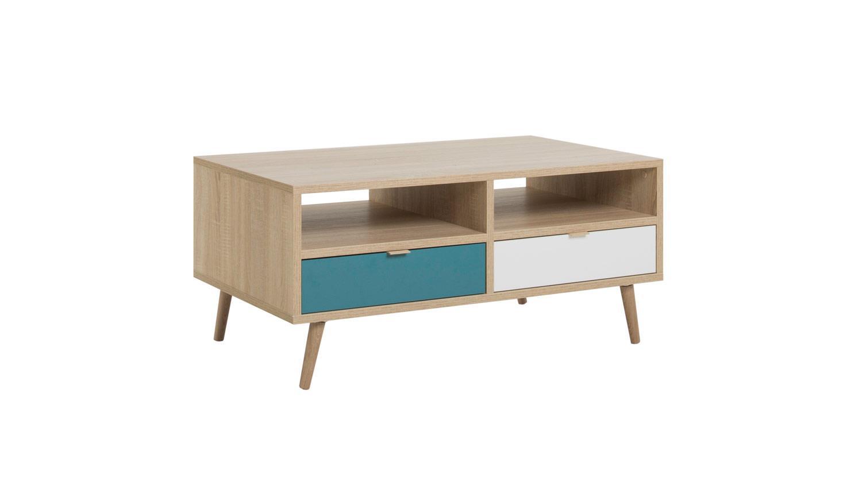 couchtisch cuba beistelltisch tisch sonoma eiche wei grau petrol 100. Black Bedroom Furniture Sets. Home Design Ideas