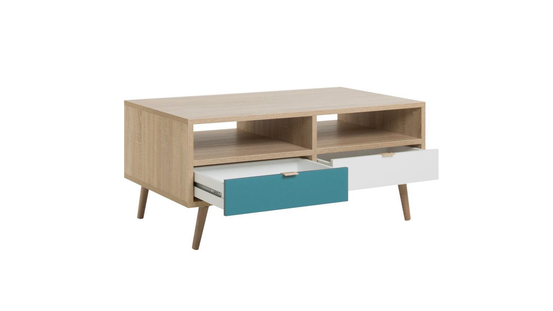 couchtisch cuba beistelltisch tisch sonoma eiche wei grau. Black Bedroom Furniture Sets. Home Design Ideas