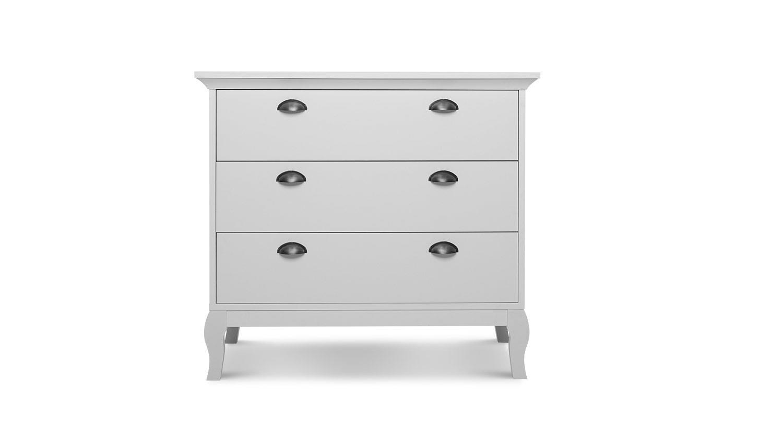kommode provence anrichte sideboard schrank in wei barock look 97 cm. Black Bedroom Furniture Sets. Home Design Ideas