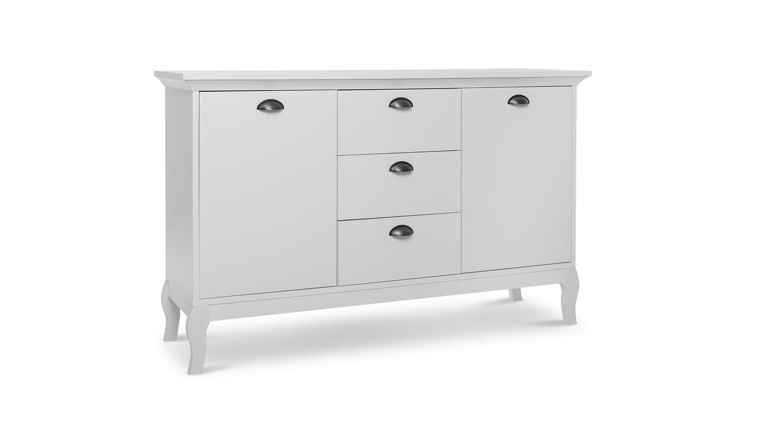 sideboard provence kommode anrichte schrank in wei barock look 140 cm. Black Bedroom Furniture Sets. Home Design Ideas