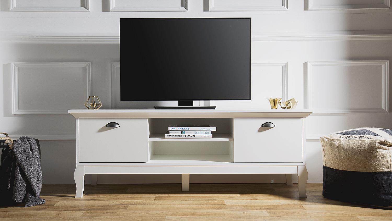 tv board provence lowboard unterschrank in wei barock look 150 cm. Black Bedroom Furniture Sets. Home Design Ideas