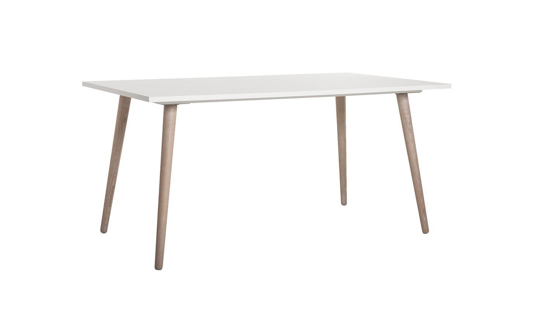 esstisch g teborg tisch wei und sonoma eiche skandinavisches design. Black Bedroom Furniture Sets. Home Design Ideas