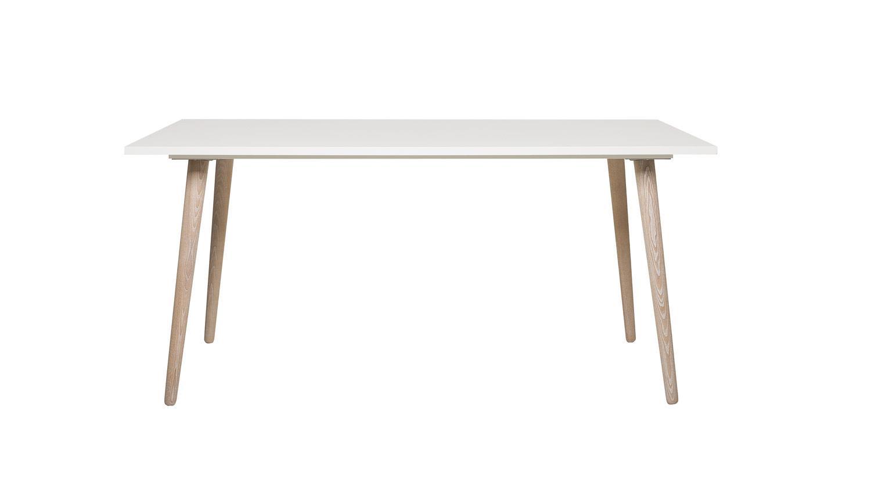 Esstisch g teborg tisch wei und sonoma eiche for Tisch design eiche