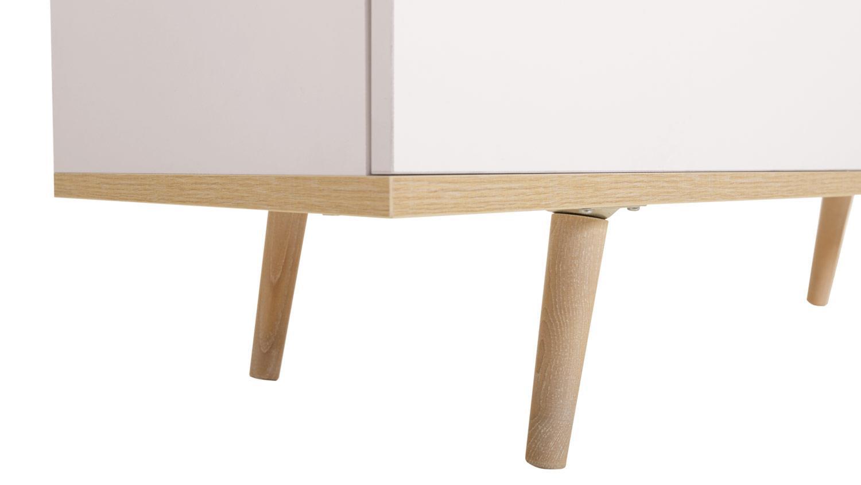 vitrine g teborg schrank in wei sonoma eiche skandinavisches design. Black Bedroom Furniture Sets. Home Design Ideas