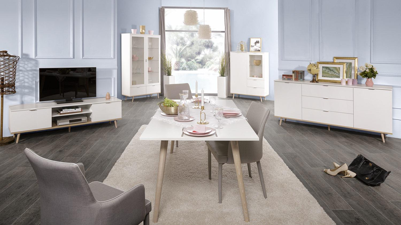tv board g teborg lowboard wei sonoma eiche skandinavisches design. Black Bedroom Furniture Sets. Home Design Ideas