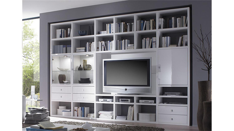 wohnwand weiss hochglanz lackiert interessante ideen f r die gestaltung eines. Black Bedroom Furniture Sets. Home Design Ideas