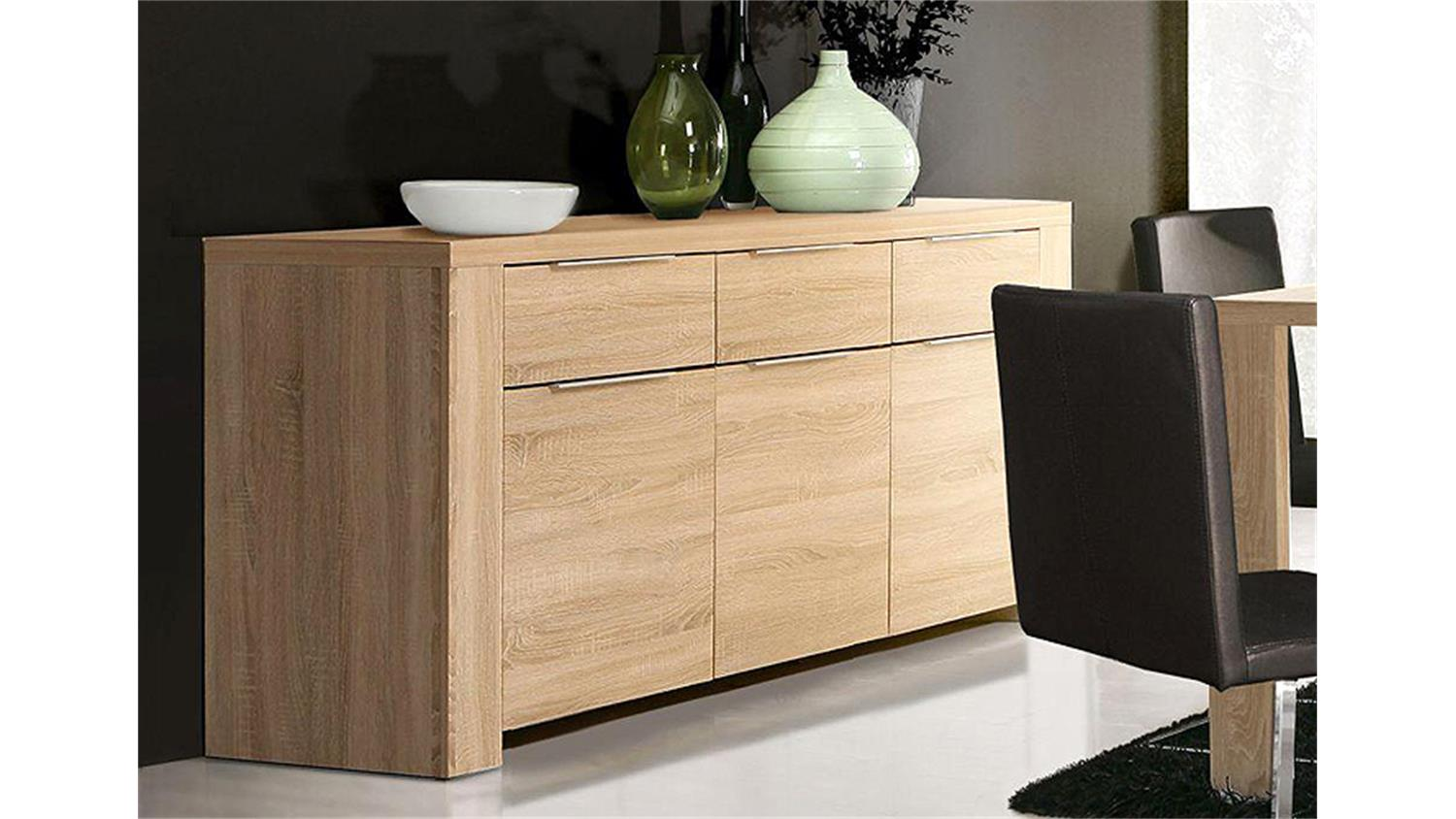 sideboard calpe 188cm sonoma eiche s gerau. Black Bedroom Furniture Sets. Home Design Ideas