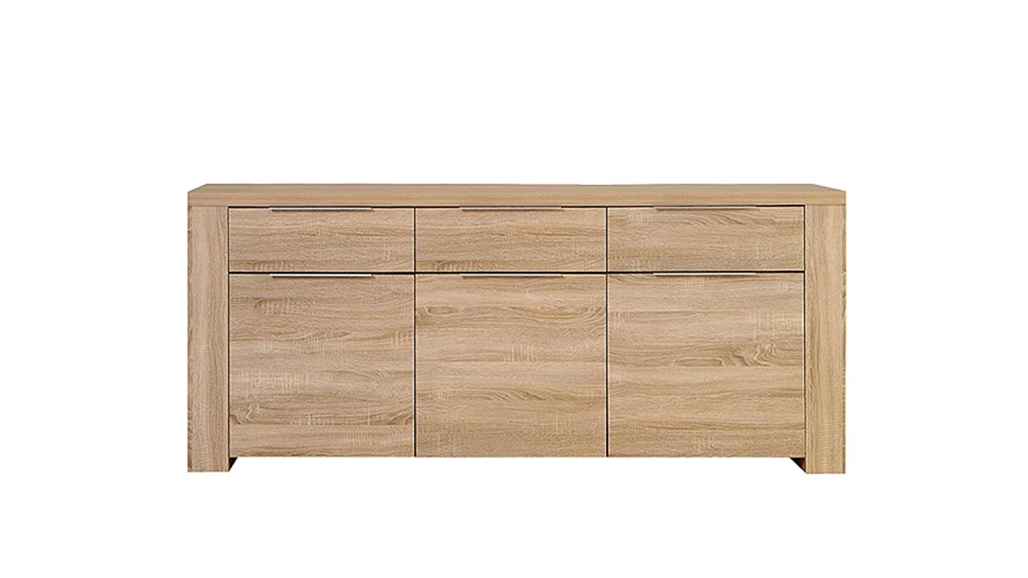 sideboard calpe sonoma eiche s gerau 3 t rig 3 schubk sten. Black Bedroom Furniture Sets. Home Design Ideas