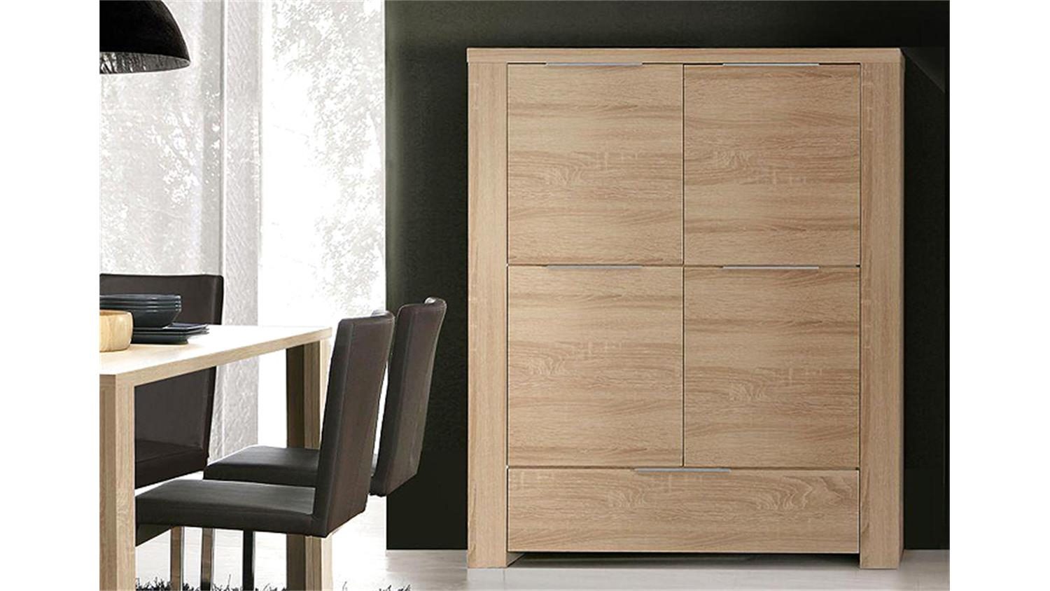 highboard wohnzimmerschrank calpe sonoma eiche s gerau. Black Bedroom Furniture Sets. Home Design Ideas