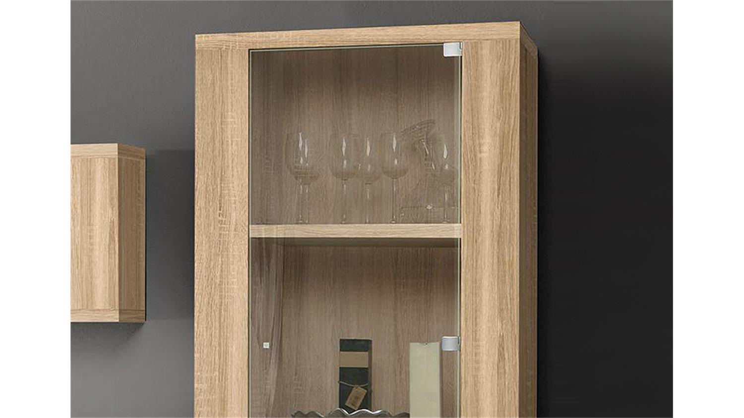 vitrine calpe 2 t rig glasvitrine in sonoma eiche s gerau. Black Bedroom Furniture Sets. Home Design Ideas
