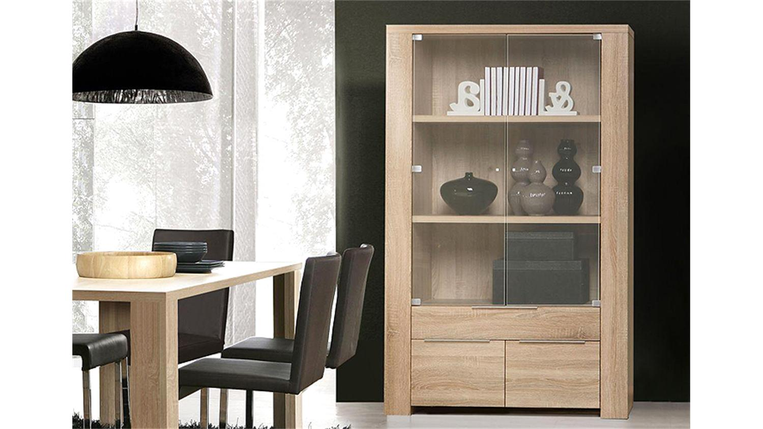 vitrine calpe 4 t rig sonoma eiche s gerau. Black Bedroom Furniture Sets. Home Design Ideas