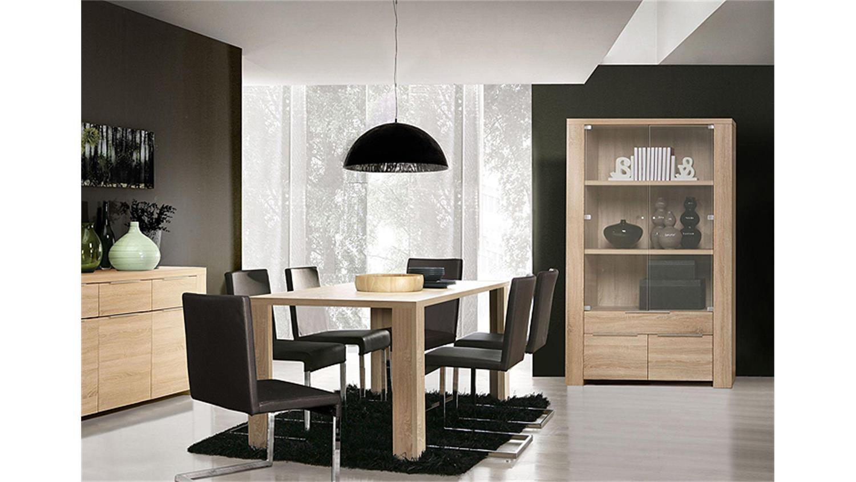 sonoma eiche vitrine vitrine b x t x h sonoma eiche with sonoma eiche vitrine free vitrine. Black Bedroom Furniture Sets. Home Design Ideas