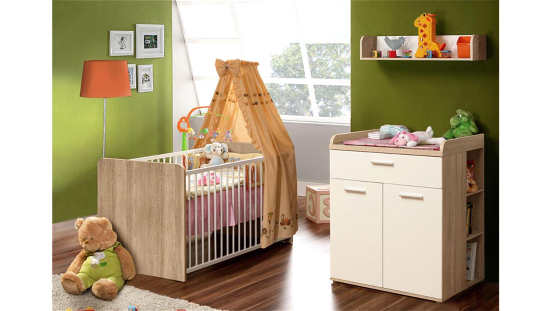wandregal winnie sonoma eiche und wei dekor. Black Bedroom Furniture Sets. Home Design Ideas
