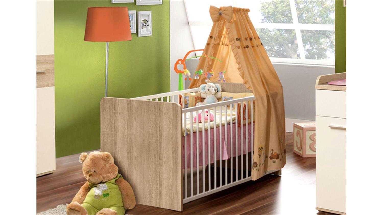 babyzimmer winnie 7 teilig sonoma eiche und dekor wei. Black Bedroom Furniture Sets. Home Design Ideas