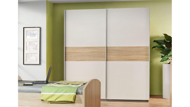 schwebet renschrank winnie sonoma eiche wei 2 t rig. Black Bedroom Furniture Sets. Home Design Ideas