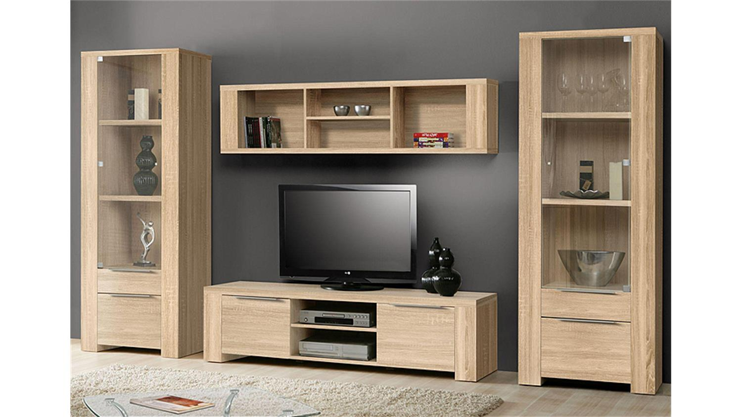 wohnwand calpe anbauwand in sonoma eiche s gerau. Black Bedroom Furniture Sets. Home Design Ideas