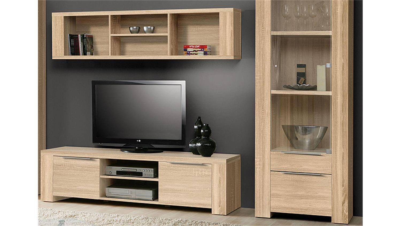 wohnwand calpe anbauwand in sonoma eiche s gerau. Black Bedroom Furniture Sets. Home Design Ideas