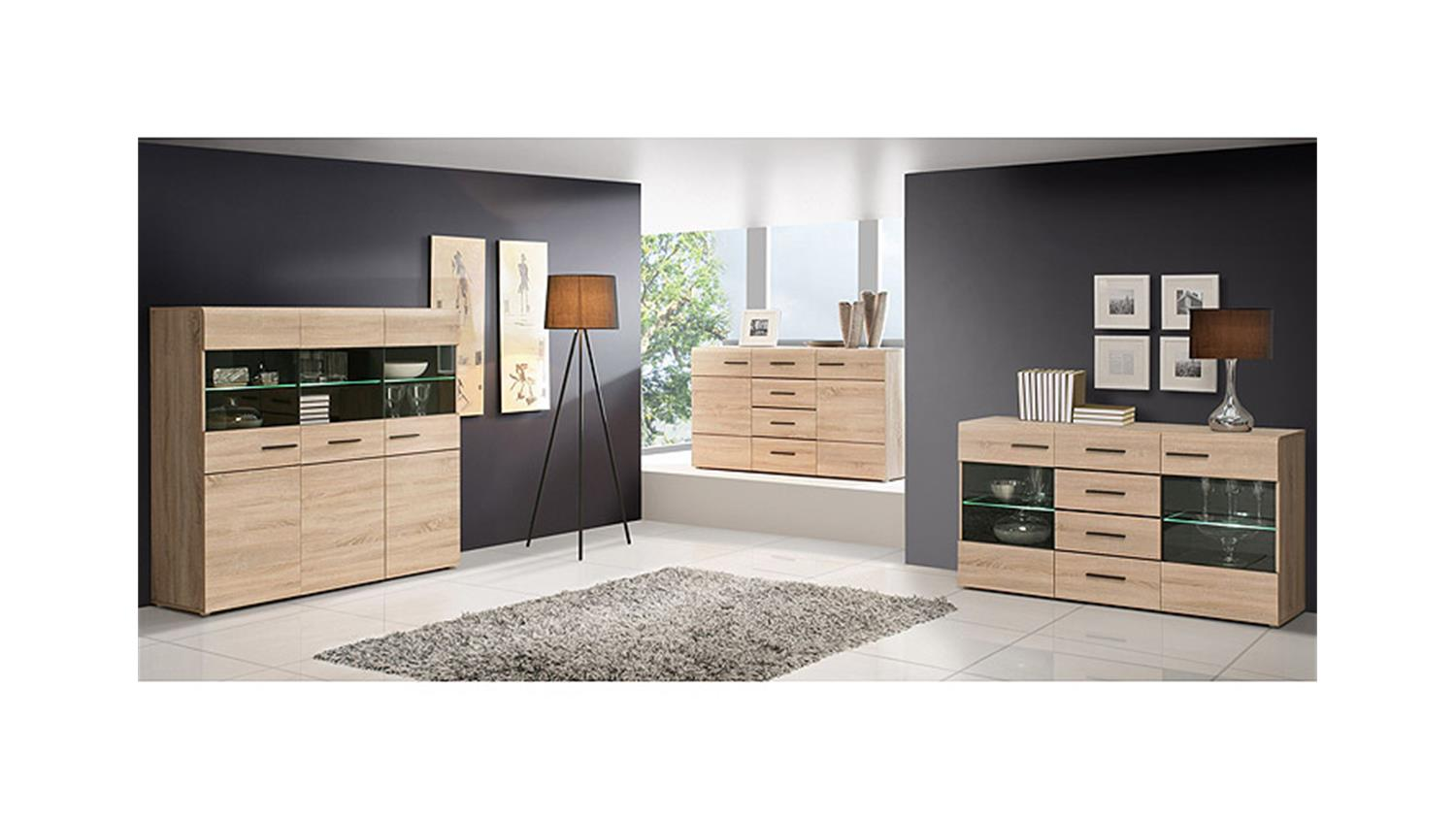 sideboard combino sonoma denver eiche wenge. Black Bedroom Furniture Sets. Home Design Ideas