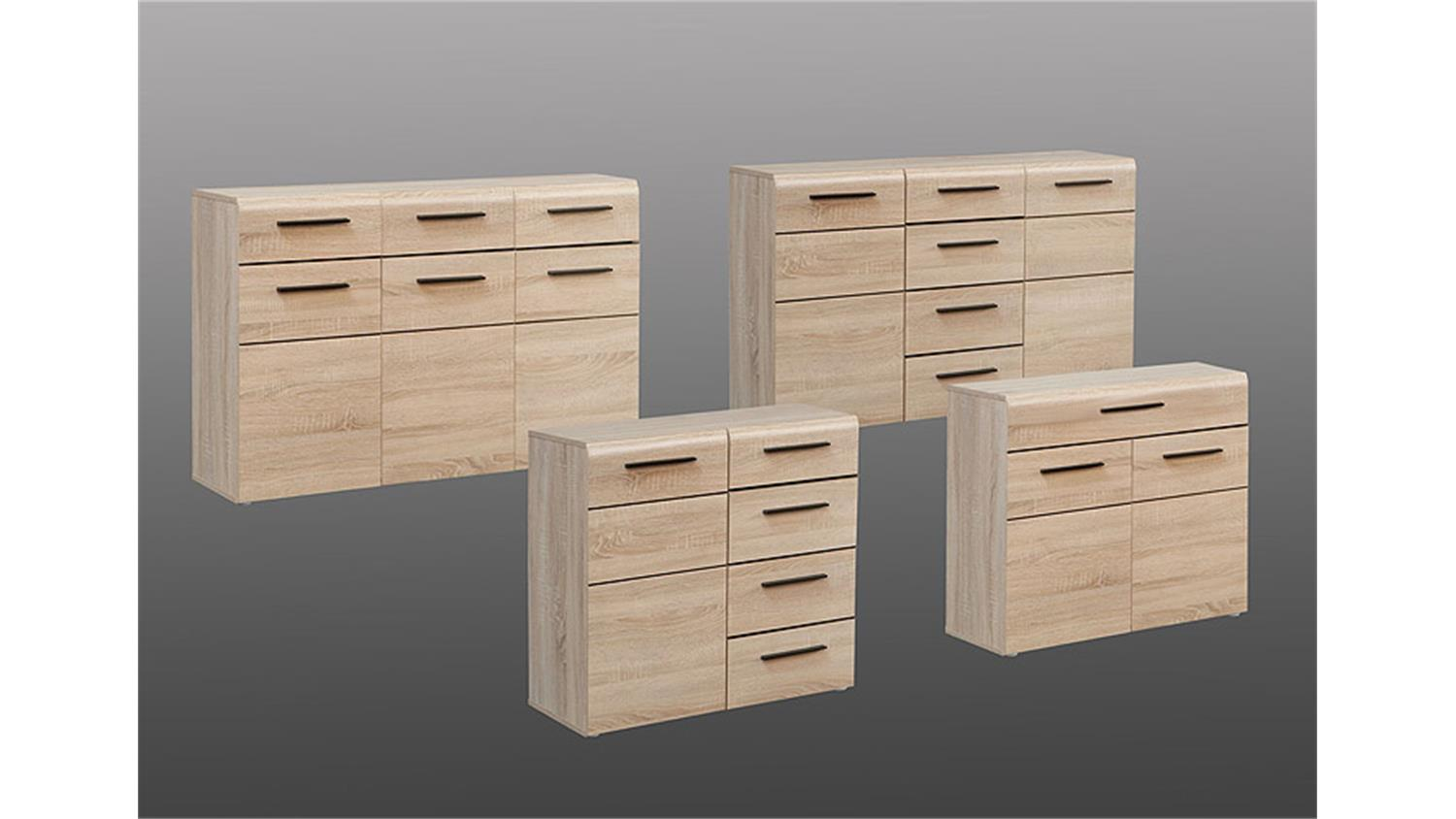 kommode 2 combino sonoma denver eiche wenge. Black Bedroom Furniture Sets. Home Design Ideas