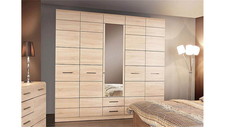 kleiderschrank combino sonoma denver eiche spiegel 225. Black Bedroom Furniture Sets. Home Design Ideas