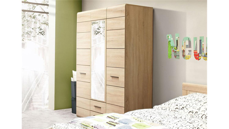 kleiderschrank combino sonoma denver eiche spiegel 135. Black Bedroom Furniture Sets. Home Design Ideas