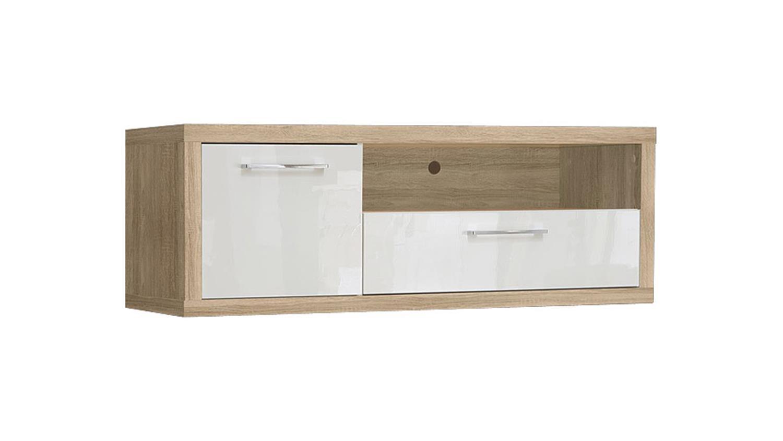 tv board shine 1 sonoma eiche wei hochglanz. Black Bedroom Furniture Sets. Home Design Ideas