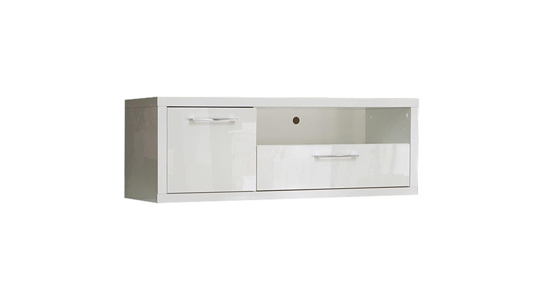 tv board shine 1 lowboard unterschrank in wei hochglanz. Black Bedroom Furniture Sets. Home Design Ideas
