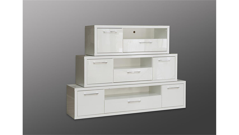 tv board shine 3 lowboard unterschrank in wei hochglanz. Black Bedroom Furniture Sets. Home Design Ideas