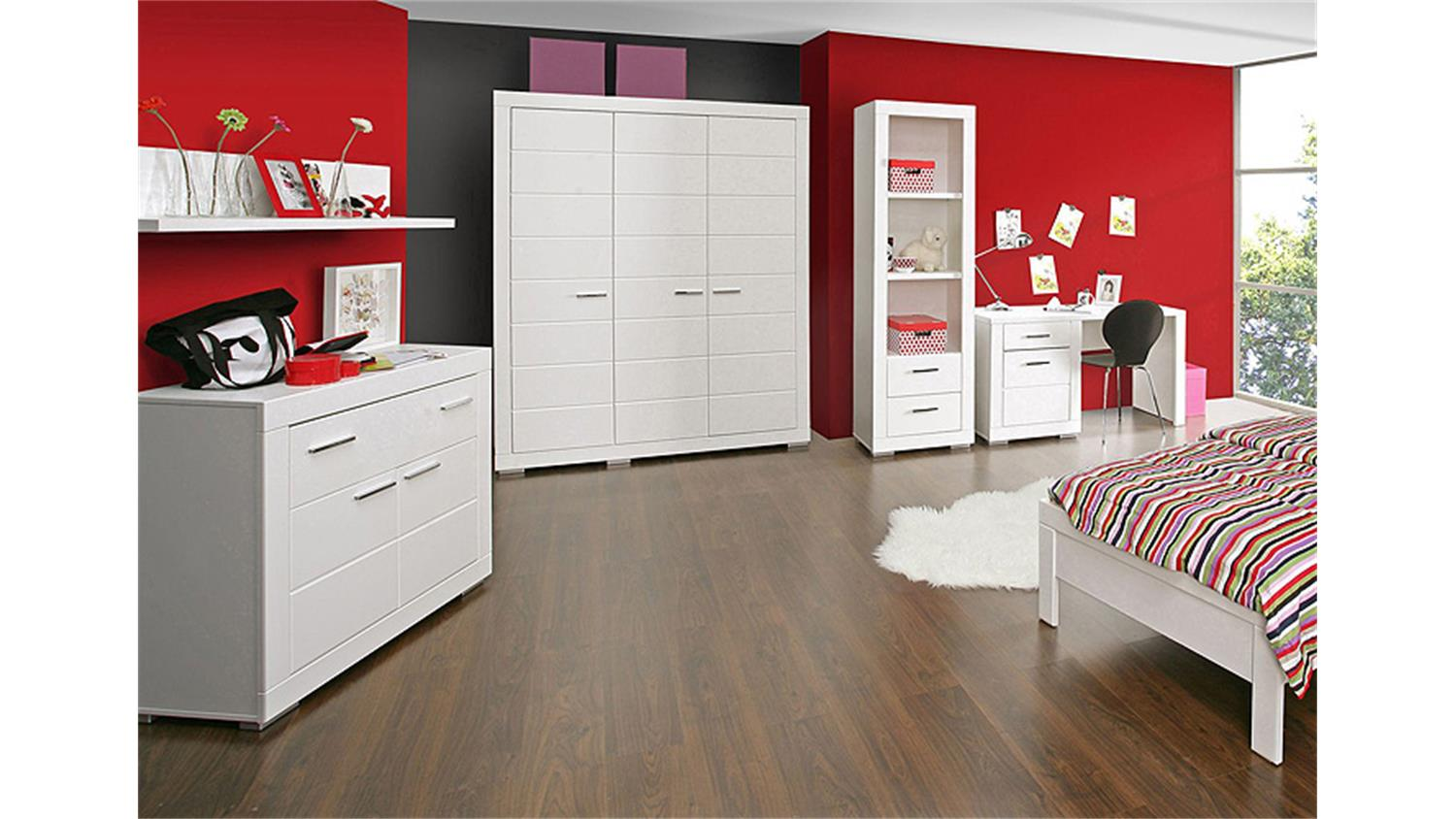 kommode i snow sideboard anrichte f r jugendzimmer in wei. Black Bedroom Furniture Sets. Home Design Ideas