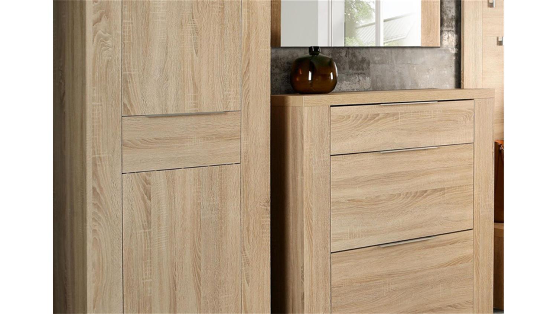 garderobe calpe 5 teilig dielenschrank in sonoma eiche. Black Bedroom Furniture Sets. Home Design Ideas