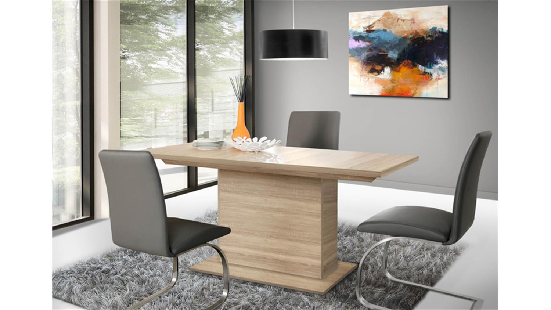 esstisch calpe mit synchronauszug sonoma eiche. Black Bedroom Furniture Sets. Home Design Ideas